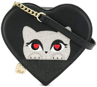 Karl Lagerfeld K/Love kitten cross body bag