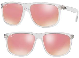 Ray-Ban 60mm Mirrored Sunglasses