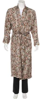 Dolce & Gabbana Card Print Silk Robe w/ Tags