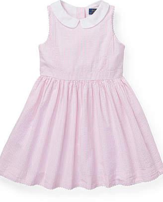 Ralph Lauren Stripe Cotton Seersucker Dress