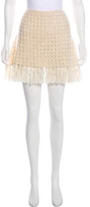 Burberry Mohair-Blend Embellished Skirt