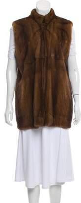 Luciano Barbera Mink Fur Vest