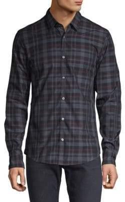 HUGO BOSS Slim Fit Reid Plaid Button-Down Shirt