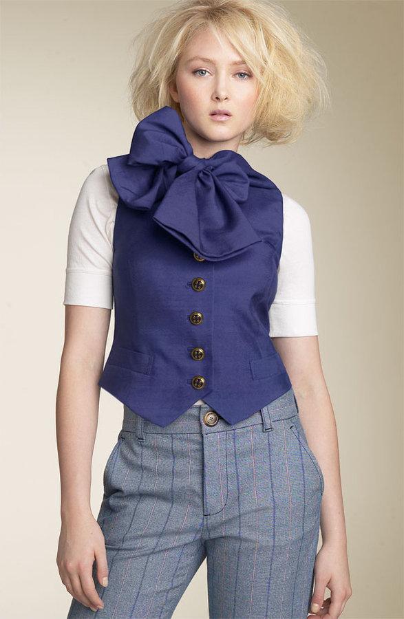 MARC BY MARC JACOBS Shantung Waistcoat Vest