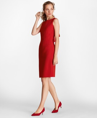 Brooks Brothers Double-Weave Tie-Back Sheath Dress