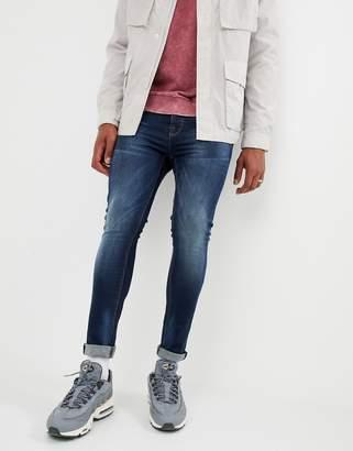 Voi Jeans Super Skinny Jeans In Dark Blue