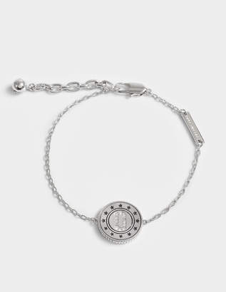 Marc Jacobs Double Sided Medallion Bracelet in Silver Brass