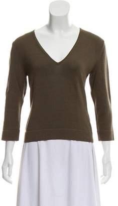 Barbara Bui Silk V-neck Sweater