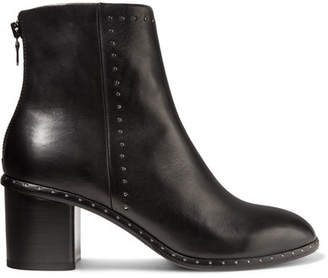 Rag & Bone Willow Studded Leather Ankle Boots - Black