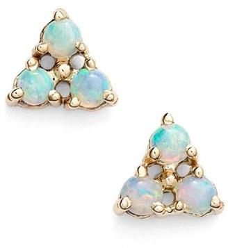Women's Wwake Triangle Opal Earrings $465 thestylecure.com