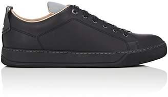 Lanvin Men's Reflective-Detail Leather Sneakers