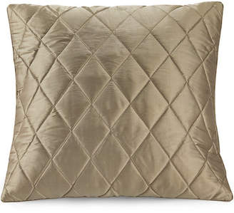 Flaxfield Linen Pewter Quilted Silk Euro Pillowcase