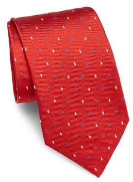 Brioni Paisley-Motif Raw-Silk Tie