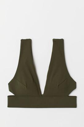H&M Triangle Bikini Top - Green