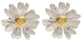 Alex Monroe Silver And Gold-Plated Daisy Stud Earrings