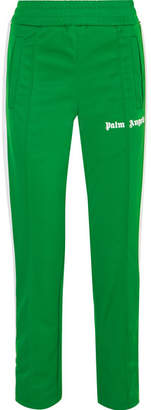 Palm Angels Striped Satin-jersey Track Pants - Green