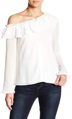 WAYF Karyna One Shoulder Blouse