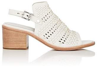 Rag & Bone WOMEN'S WYATT PERFORATED WOVEN LEATHER SLINGBACK SANDALS