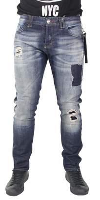 Philipp Plein Men's Jeans Super Straight Cut Mercury