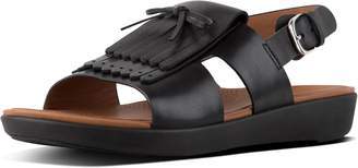 FitFlop H-Bar Fringe Leather Back-Strap Sandals