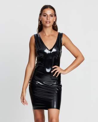 Missguided Vinyl Mini Dress