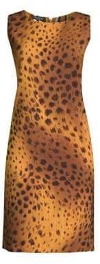 Lafayette 148 New York Bibana Reversible Cheetah Print Shift Dress