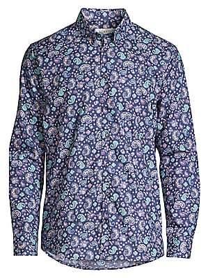 Bugatti Men's Modern Fit Paisley Shirt