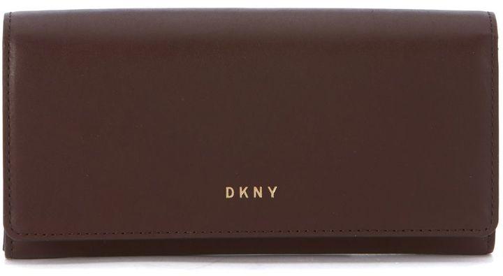 DKNYDkny Carryal Wallet In Bordeaux Leather