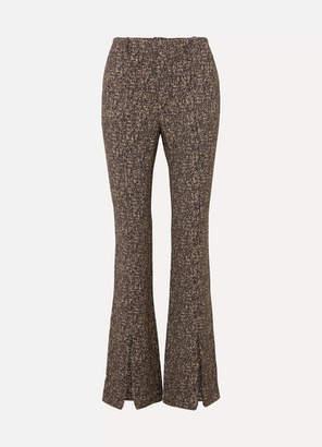 Chloé Printed Crepe Flared Pants - Beige
