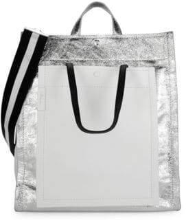 3.1 Phillip Lim Metallic Accordion Shopper