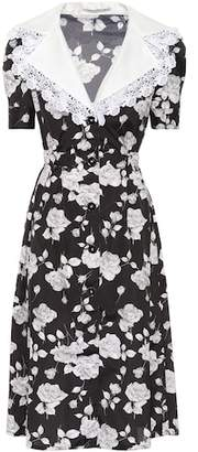 Alessandra Rich Floral-printed faille dress