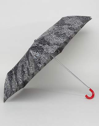Lulu Guinness Superslim 2 Doodle Snake Skin Umbrella