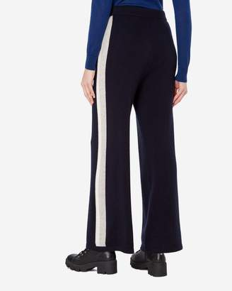 N.Peal Bold Stripe Cashmere Trousers