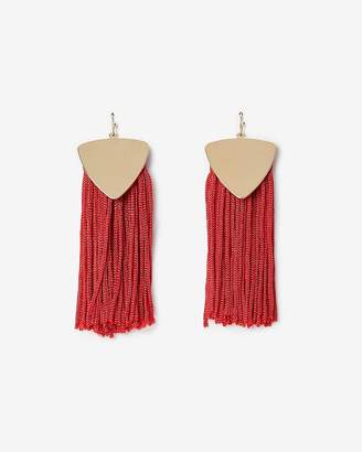 Express Silky Fringe Tassel Earrings