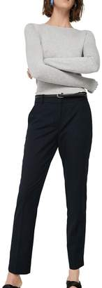 MANGO Navy 'Boreal' Straight Fit Suit Trousers