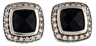 David Yurman Onyx & Diamond Petite Albion Earrings
