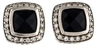 David Yurman Onyx & Diamond Petite Albion Earrings