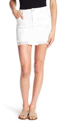 1822 Denim Distressed Mini Skirt