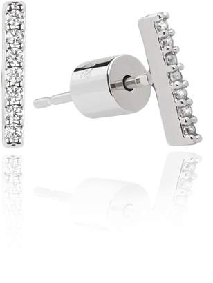 Astrid & Miyu - Hold On Small Bar Earrings in Silver