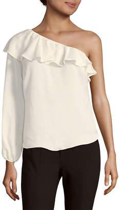 Nanette Lepore Nanette Ruffle One-Shoulder Blouse