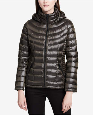 Calvin Klein Packable Hooded Puffer Coat, Created for Macy's