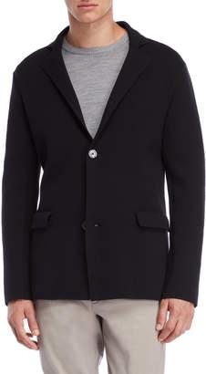 Jil Sander Black Knit Button Coat