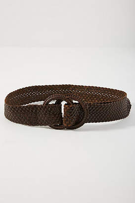 Anthropologie Woven Double O-Ring Belt