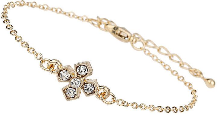 Topshop Fine Cross Rhinestone Bracelet