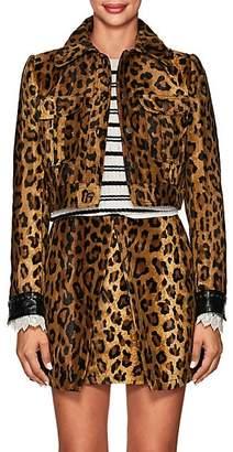 Philosophy di Lorenzo Serafini Women's Leopard-Print Velvet Crop Jacket