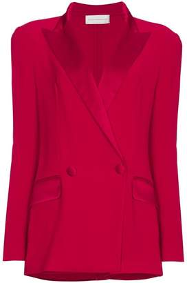 Faith Connexion Red Plunge Blazer Playsuit