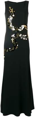 Roberto Cavalli mirror snake-embellished gown