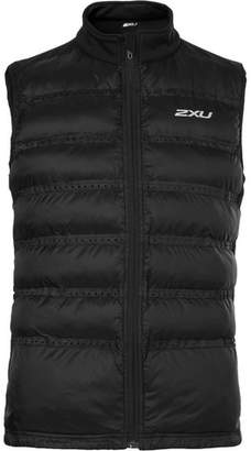 2XU Momentum Jersey-Panelled Perforated Quilted Shell Gilet - Black