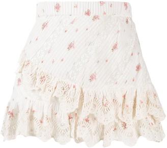 LoveShackFancy Love Shack Fancy Emma floral print skirt