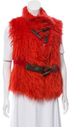 Issey Miyake Shaggy Mohair Vest